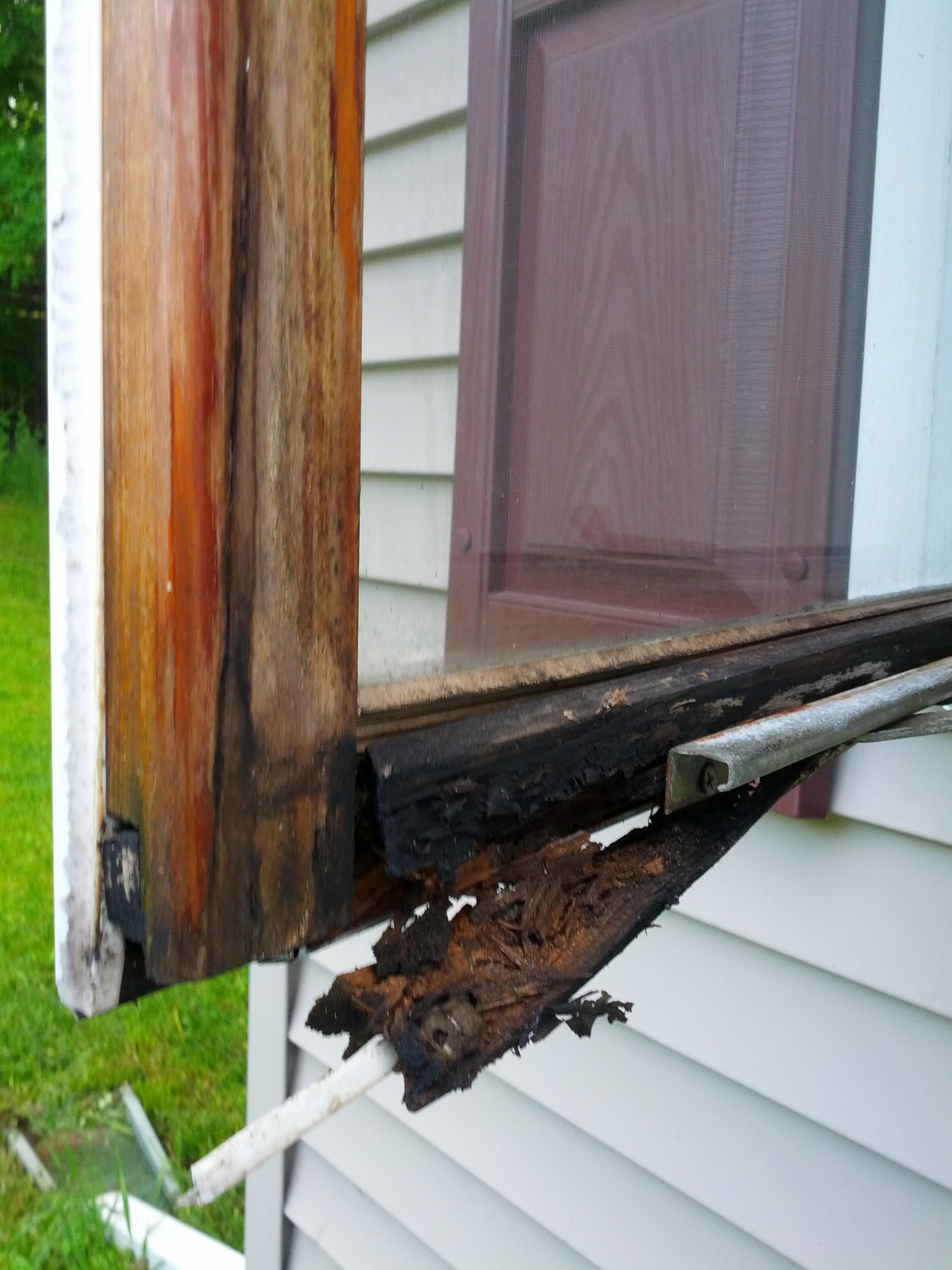 Casement Window Bottom Of Frame Rotted Repair Or Replace